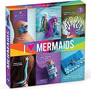 Craft-tastic 我爱美人鱼 – 儿童手工套件 – 包括一切适用于 6 个海里趣味 DIY 艺术和工艺品项目