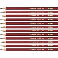 铅笔 - STABILO Swano 2B 红色