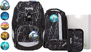 Ergobag 套装,符合人体工程学的书包,6件套,20升,1.100克 Super Reflektbär Glow onesize