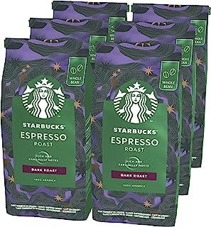STARBUCKS 星巴克 Espresso Roast 深度烘培 全豆咖啡豆,200 克 (6 件装)