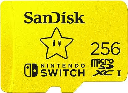 SanDisk 闪迪 microSDXC UHS-I 存储卡-SDSQXAO-256GB-GNCZN,用于任天堂手柄