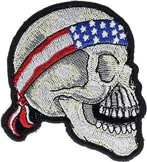 美国国旗头巾骷髅 7.62 cm 刺绣补丁 NOV1362a