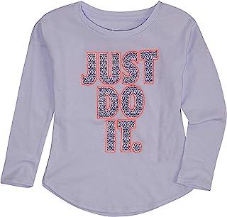 耐克儿童服装女童长袖 JDI 图案 T 恤
