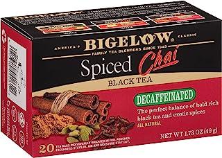 Bigelow 低咖啡因加香料的柴红茶袋,20盒(6包),无咖啡因,总计120茶袋