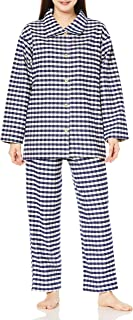 [Cecile] 睡衣 耐洗!棉绒布头染高领睡衣 女士