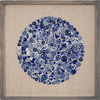 墙饰 Sundara,50*50cm,白色-蓝色