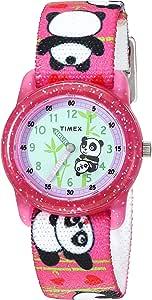 Timex 天美时 女孩 TW7C05900 腕表 模拟显示 树脂 弹性织物表带