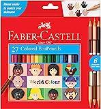 Faber-Castell 辉柏嘉 World Colors Ecopencils,27支 - 儿童不同肤色彩色铅笔