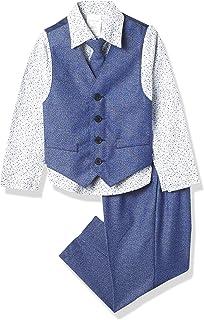 Calvin Klein 男孩 4 件套正装背心套装