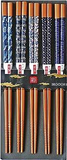 [Sunlife] 来客用筷 蓝色煤竹 22.5厘米 312322 5双套装