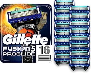 Gillette 吉列 Fusion5 ProGlide 男士剃须刀片,带精密修剪器,一包16个刀片(适用于邮箱)