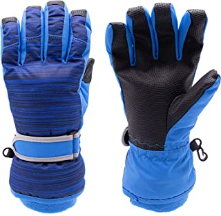 Arctic Quest 男童女童保暖性能防水防风冬季滑雪和滑雪手套