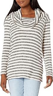 Everly Grey 女式 Reina 条纹孕妇和护理堆领罗纹毛衣