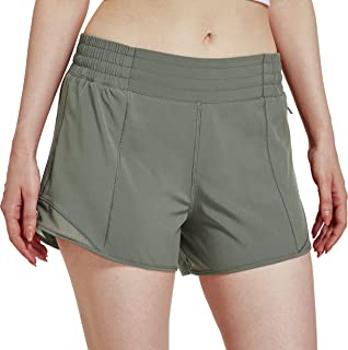 Willit 女式 4 英寸(约 10.2 厘米)跑步运动短裤运动运动锻炼网球徒步短裤带衬里速干