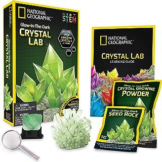 National Geographic Glow-in-the-Dark 水晶生长实验室-DIY晶体制作-包括真正的紫石英晶体标本