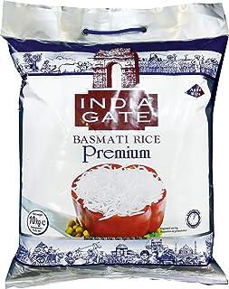 INDIA GATE Premium Basmati Rice (aus Indien, feines Langkorn) aromatisch, Vorratspackung - 1er Pack (1 x 10 kg)