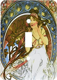 """3dRose LSP_171470_1""""Mucha - Muse of Music 单拨动开关"""