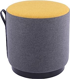 Sunon 软圆形软垫脚凳 沙发脚凳 木质脚垫 41.91 厘米 x 41.91 厘米 x 41.91 厘米