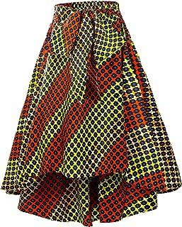 SHENBOLEN 女式非洲传统服饰花卉印花休闲大喜基裙