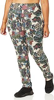 SLIM-SATION 女式加大码套穿印花 Ponte 紧身裤