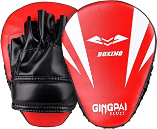 GINGPAI 弧形拳击拳击手套拳击垫,弧形对焦手靶垫,拳击拳击拳击手套,非常适合空手、泰拳踢球、拳击、Dojo、武术
