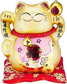 Ale-net 9.5×11.5×11.7厘米 金福 招财猫(桃色)