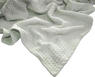 Zoog *棉天然染料优质 GOTS 认证非化学* * *棉柔软针织 78.74 厘米 x 101.6 厘米婴儿蓝色和粉色幼儿毯襁褓 *
