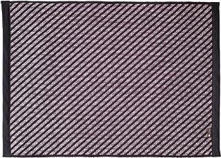 Oka Plys Base 平织地毯 黑色 约50厘米×70厘米 (吸水 速干 可洗 威士顿)