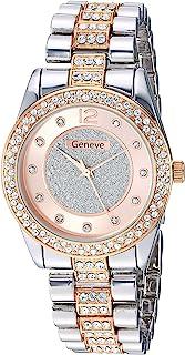eWatchFactory Geneve 男式 Rosegold' 石英金属和合金手表,颜色:玫瑰金色调(型号:GW00047)