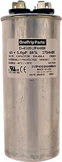 OneTrip Parts USA Run 电容 45+5 UF 45/5 MFD 370 VAC / 440 VAC 2 英寸圆形重型电池