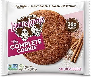 Lenny & Larry's The Complete Cookie饼干,软烘焙,16克植物蛋白,素食,每包4盎司(113g)(12包装)