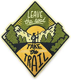 O'Houlihans - Leave The Road Take The Trail Iron on Patch - 冒险补丁,露营补丁 - 背包、帽子、夹克的完美补丁