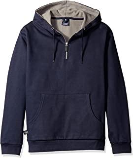 Charles River Apparel 男士高大款贸易者四分之一拉链华夫格针织衬里运动衫