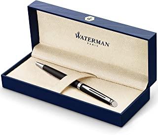 Waterman 威迪文 圆珠笔 Kugelschreiber Matte Black Chrome Trim
