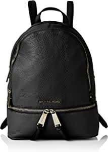 MICHAEL KORS 女式 Rhea MD 背包手提包 Black (Black) 13x27x31 cm (W x H x L)