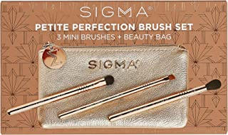Sigma Beauty Petite Perfection 化妆刷套装,3 支旅行迷你化妆刷,1 个化妆收纳袋
