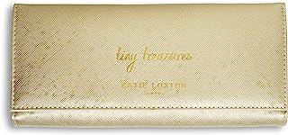Katie Loxton Tiny Treasures 女士人造皮革首饰卷手拿包收纳包,金属金色