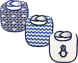 Luvable Friends 3件套 drooler 围嘴与纤维填充 Penguin 均码