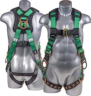 ATERET 全身胸背带带 5 点调整 I 3D 环坠落*胸背带带索环腿和秋季指示器 I OSHA ANSI 工业屋顶工具个人设备(* - 3XL)