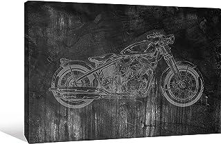 Joeli JLE034 Excite Bike 限量版数字签名画廊包装帆布墙壁艺术,91.44 cm x 60.96 cm