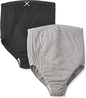 Rosemadame 柔和的棉质材料*妈妈也放心【2条装】孕妇内裤 107-2327-01 Gブラックドット×グレードット L-LL