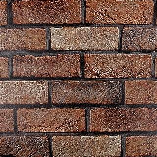 Venilia 胶膜 石墙图案,仿古砖墙纸,砖外观膜,石面膜,装饰膜,家具膜,自*,PVC,90 厘米 x 2.6 米,厚度 95 微米(0.095 毫米),54943