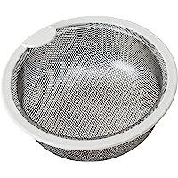 ベルカ(Belca) 排水口过滤器 厨房用不锈钢浅型过滤器 直径13.5×高5.8厘米 不锈钢/白色 日本制造 135款…