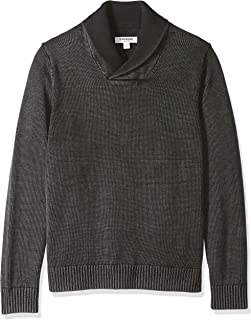 Goodthreads Men's Soft Cotton Shawl Pullover Sweater, Washed Black, X-Small