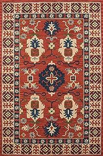 Momeni Rugs Tangier 系列,* 羊毛手工簇绒尖剪切过渡区域地毯,2' x 3',红色