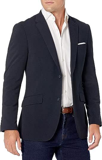 Perry Ellis 男式修身弹力纯色圆点印花西装外套