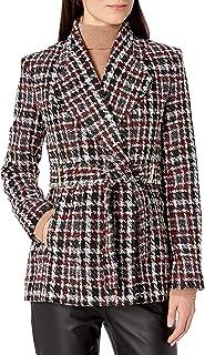 Calvin Klein 女士粗花呢束腰夹克