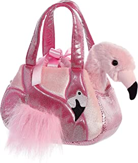 Aurora World Fancy Pals 女童毛绒玩具宠物包包 粉色