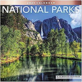 2021 国家公园挂历,30.48 厘米 x 30.48 厘米,每月(LME3081021)