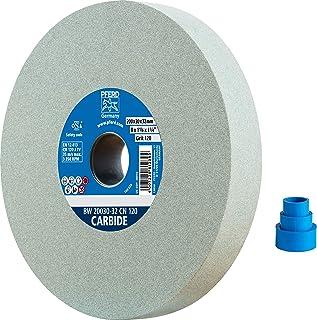PFERD 砂轮,200 x 30 x 32 毫米,CARBIDE,颗粒尺寸120,碳硅,39008458 - 用于处理硬材料,内置减径套筒(25/20/16 毫米)